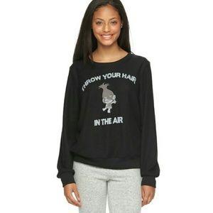 Trolls black sweatshirt